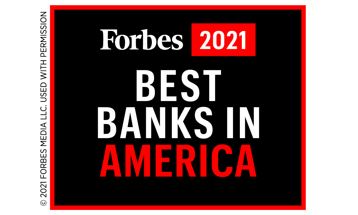Forbes 2021. Best Banks in America.